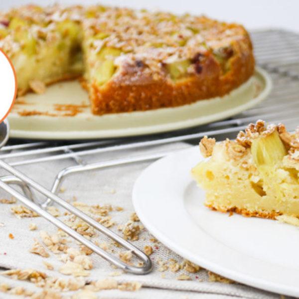 Rhabarber-Frischkaese-Kuchen